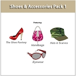 4- Shoe & Accessories Pack - Design shoes, heels, sneakers, handbags and more. Over 400 Shoe Designing Templates.